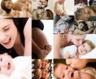 Moeders met kinderen