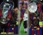 Eric Abidal verzamelen als kapitein Cup, Champions League 2010-2011