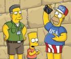 Simpson familiebezoek Jeruzalem