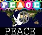 Internationale Dag van de Vrede. Wereld Vrede Dag. 21 september is gewijd aan de vrede en de afwezigheid van oorlog