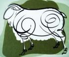 De geit, het teken van de Geit, het jaar van de Geit in de Chinese astrologie. De achtste teken van de Chinese kalender