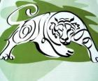 De tijger, de tijger teken, het Jaar van de Tijger. Het derde teken van de twaalf dieren van de Chinese Zodiac