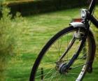 Voorwiel van een fiets