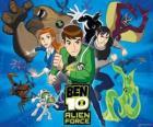 Ben, Gwen en Kevin, menselijke protagonisten van Ben 10 en zijn 10 originele vreemdeling persoonlijkheden