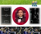 Coach van het jaar FIFA 2011 voor vrouwen voetbal winnaar Norio Sasaki