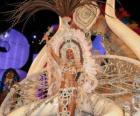 De koningin van de carnaval