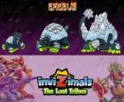 Erebus, laatste evolutie. Invizimals The Lost Tribes. Mythisch wezen van de Antarctische wateren die een berg van ice lijkt