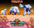 Freezefur, laatste evolutie. Invizimals The Lost Tribes. Een enorme beest, gewelddadige en felle