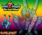 Runglerbot. Invizimals The Lost Tribes. Een krijger behendig en veelzijdige omdat kunnen aanvallen met alle delen van het lichaam