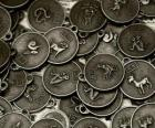 Medailles met de tekenen van de Chinese dierenriem