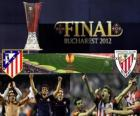 Atlético Madrid vs Athletic de Bilbao. Europa League 2011-2012 finale in het nationale stadion in Boekarest, Roemenië