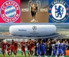 Bayern München vs Chelsea FC. Final UEFA Champions League 2011-2012. Allianz Arena, München, Duitsland