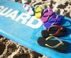 Sandalen teenslippers aan de zomer te genieten