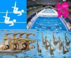 Synchroonzwemmen - Londen 2012-