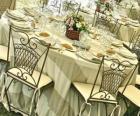 Alles is klaar voor de bruiloftsreceptie