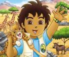 Diego en Baby Jaguar helpen de dieren in gevaar in de serie Go, Diego, Go!