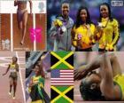 Atletiek 100 m vrouwen Londen 2012