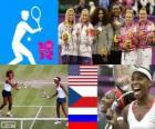 Vrouwen dubbele tennis Londen 2012