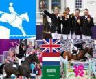 Paardensport team springconcours Londen 2012
