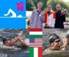 Vrouwenmarathon 10km zwemmen LDN 2012