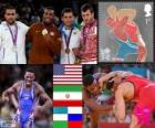 Mannen vrije stijl tot 74 kg Londen 2012