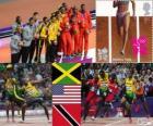 Atletiek-Mannen 4x100m Londen 2012