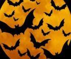 Vleermuizen voor de viering van Halloween