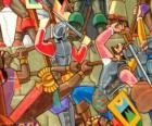 Krijgers vechten Inca