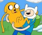 Finn en Jake, de belangrijkste protagonisten van Tijd voor Avontuur, Adventure Time