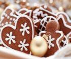 Koekjes van Kerstmis in een verscheidenheid van vormen
