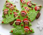 Koekjes van Kerstmis, kerstboom-vormige