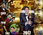 FIFA Ballon d'Or 2012 winnaar Lionel Messi