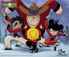 De vier jonge monniken, protagonisten van Xiaolin Showdown