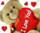 Teddy beer met hart voor Valentijnsdag