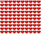 100 harten, een honderdtal harten Valentijnsdag