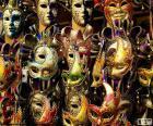 Klassieke carnaval maskers