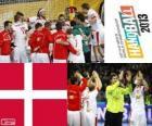 Denemarken op handbal 2013 World Cup zilveren medaille