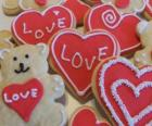 Koekjes om te vieren Valentijnsdag