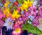 Gemengde lentebloemen