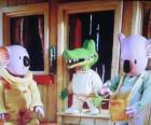 Buster en Frank met zijn vriend Archie de krokodil