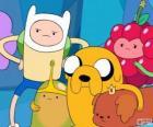 Verschillende personages uit AdventureTime