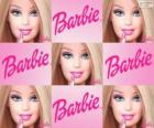 Collage van Barbie