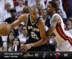2013 NBA Finals, 1ste Match, San Antonio Spurs 92 - Miami Heat 88