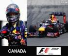 Sebastian Vettel viert zijn overwinning in de Grand Prix van Canada 2013
