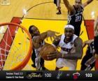 2013 NBA-finale, 6e spel, San Antonio Spurs 100 - Miami Heat 103