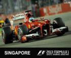 Fernando Alonso - Ferrari - 2013 Singapore Grand Prix, 2º ingedeeld