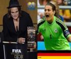 FIFA Women's World Player of the Year 2013 winnaar Nadine Angerer