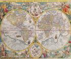 Historische kaart van de wereld