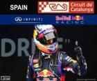 Daniel Ricciardo - Red Bull - Grand Prix van Spanje 2014, 3e ingedeeld
