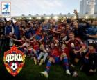 CSKA Moskou, kampionen Premier Liga 2013-2014, de Russische football league